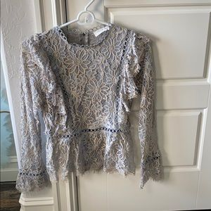 Detailed lace shirt
